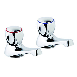 Iflo base basin pillar taps (pair)