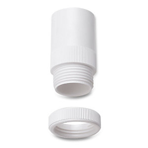 Univolt Amt/Lr 20 Wh 20mm White Male PVC Conduit Adaptor