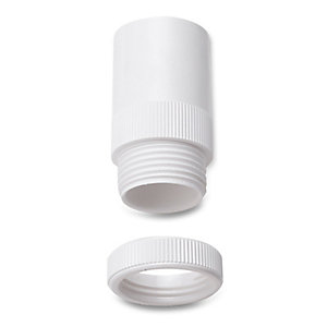 Univolt Amt/Lr 25 Wh 25mm White Male PVC Conduit Adaptor