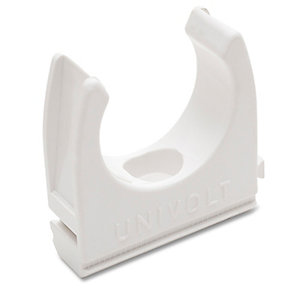 Univolt CL25WH 25mm White PVC Conduit Clip