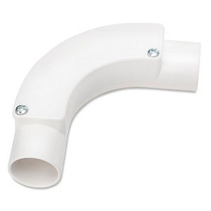 Univolt Ib 20 Wh 20mm White PVC Conduit Inspection Bend