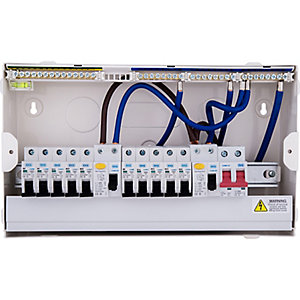 BG 18th Edition 10 Way Populated Consumer Unit with 100A Main Switch