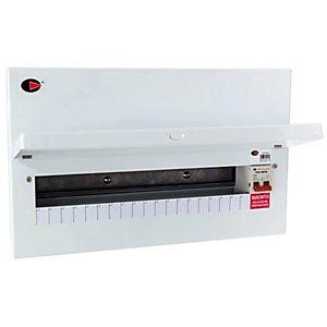 Lewden QFS-MX20M 19 Way Unpopulated Consumer Unit with 100A Main Switch