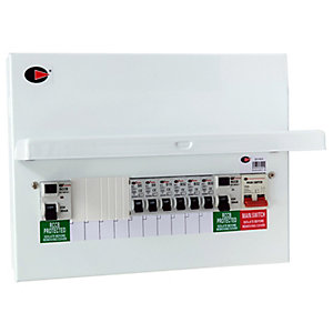 Lewden QFS-PM10 10 Way Flexible Dual RCD High Integrity Consumer Unit with 6 MCB's