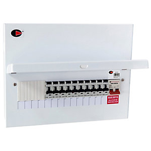 Lewden QFS-PR14 14 Way 100A Switch Disconnector Consumer Unit with 10 RCBO's