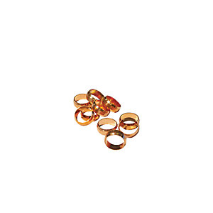 4TRADE 10mm Brass Olives (Pack of 10)