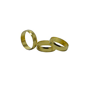 4TRADE 28mm Brass Olives (Pack of 10)