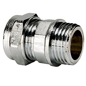 Compression Chrome Coupling Male Iron 22X3/4in