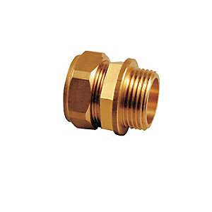 Compression Male Iron Coupling 15 mm x 3/4in P90217