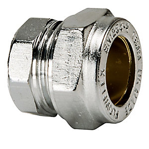 Compression Stop End 28mm Chrome