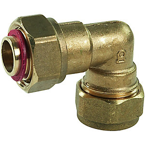 Compression Swivel Bent Tap Connector 19 x 22 mm