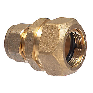 PlumbRight Compression 7lb Copper to Lead Coupling with Liner 12 x 25mm