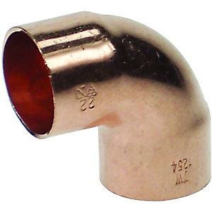 PlumbRight End Feed Elbow 90 Degree 22mm