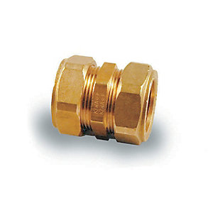 PlumbRight Straight Coupling Compression Fitting 22mm