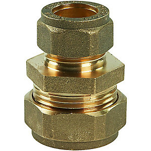 Straight Coupling Compression 22 x 15 mm