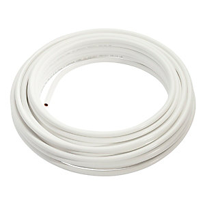 Wednesbury Copper Pipe PVC Coated Coil 10 mm x 50 m Coil White