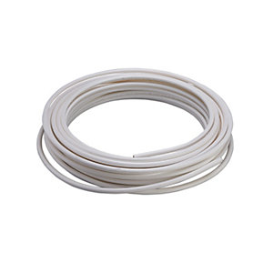 Wednesbury PVC Coated Copper Coil White 8mm x 25m Coil
