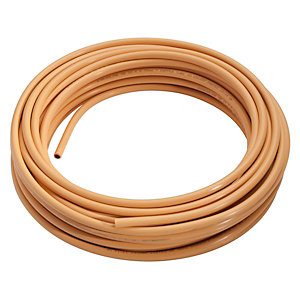 Wednesbury PVC Coated Copper Coil Yellow 15mm x 20m