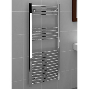 Chrome Curved Towel Rail 1200 x 500mm