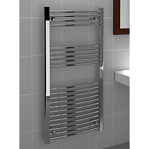 Curved Chrome Towel Rail 1200 x 600mm