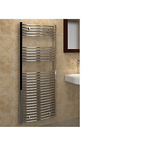 Curved Chrome Towel Rail 1800 x 750mm