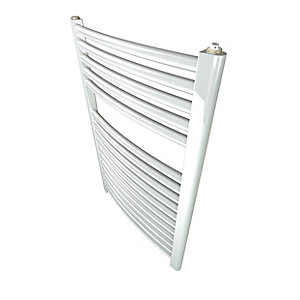 Stelrad Classic Towel Rail 1211 X 500 mm White Cruved - 147008
