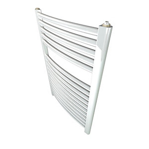 Stelrad Classic Towel Rail 1211 X 600 Mm White Curved - 147009