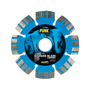 Punk 115mm Stone Laser Welded Segment (12mm) Diamond Blade 22.23mm Bore