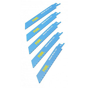 Punk 150mm Nail Embedded Reciprocating Blades (5 Pack)