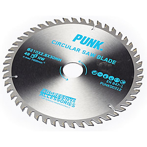 Punk Circular Saw Blade 210mm x 48T x 30mm Atb