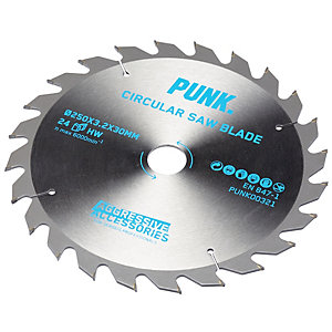 Punk Circular Saw Blade 250mm x 24T x 30mm Atb