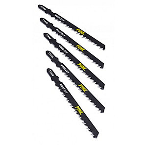 Punk Wood Cutting Jigsaw Blades Pack of 5 T144DF