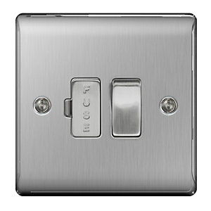 BG Brushed Steel 13A Switched Fuse Spur - NBS50