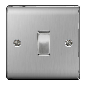 BG Brushed Steel Intermediate Switch - NBS13