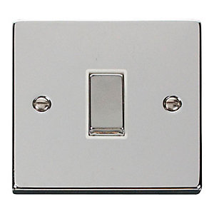 Polished Chrome 1 Gang 2 Way Light Switch - VPCH411WH