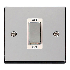 Polished Chrome 1 Gang 45A Double Pole Switch - VPCH500WH
