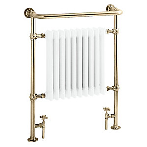 Heritage Clifton Heated Towel Rail Antique Vintage Gold AHA73