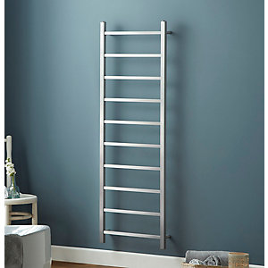 Towelrads Diva Brushed Stainless Steel Ladder Towel Rail 1200mm x 500mm