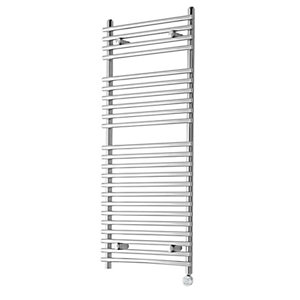 iflo Furnas Desinger Towel Radiator Chrome, Electric Only 1200 x 500mm