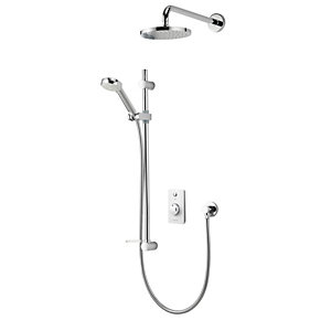 Aqualisa Zuri Shower Concealed with Adjustable and Fixed Head - High Pressure