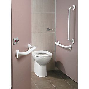Contour 21+ Doc M Ambulant Care Back to Wall White Rails S0681AC