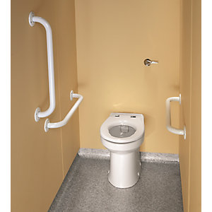 Twyford PK8148WH Doc M Rimless Ambulant Back to Wall Pack White