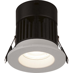 Globo Brushed White Recessed Cool White Downlight