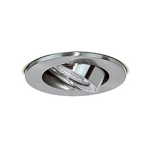 Luceco Adjustable Fire Rated GU10 Downlight - Brushed Steel