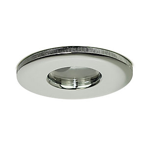 Luceco Fixed IP65 Fire Rated GU10 Downlight - Polished Chrome