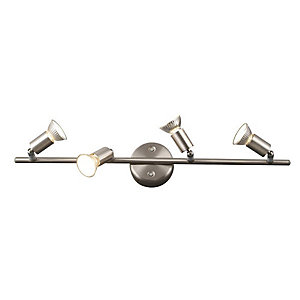Modern Nickel Matt Four Bar Ceiling Spotlight