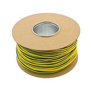 Unicrimp QES4 100m x 4mm Earth Sleeving - Green/Yellow