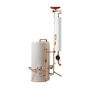 Electric Heating Company Compact Electric Boiler Complete & Indirect Cylinder 14.4kW 210L