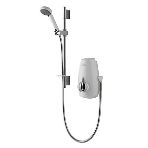 Aqualisa 813.40.21 Aquastream Thermostatic Power Shower White/Chrome