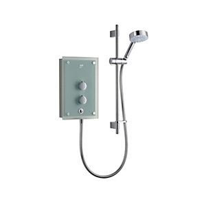 Mira Azora Thermostatic Electric Shower 9.8kW Translucent Glass